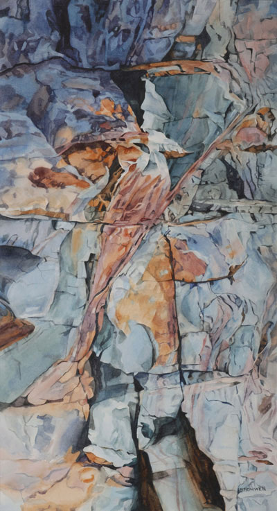 Bronwen Schalkwyk's FLIGHT - 270mm x 510mm watercolour by Bronwen Schalkwyk