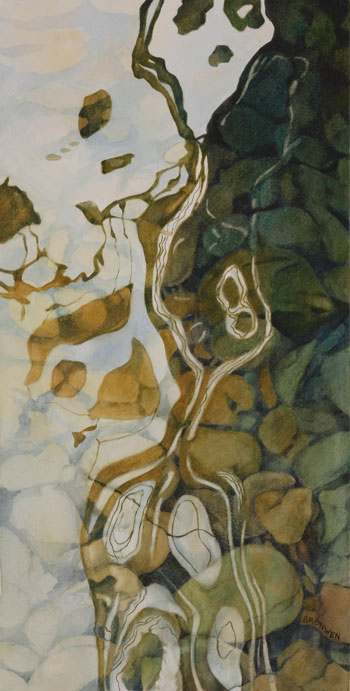 Bronwen Schalkwyk's PHANTOM FLOW 2 - 220mm x 435mm watercolour by Bronwen Schalkwyk