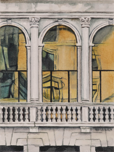 Bronwen Schalkwyk's WINDOWS IN TIME 8 - 140mmx185mm watercolour by Bronwen Schalkwyk